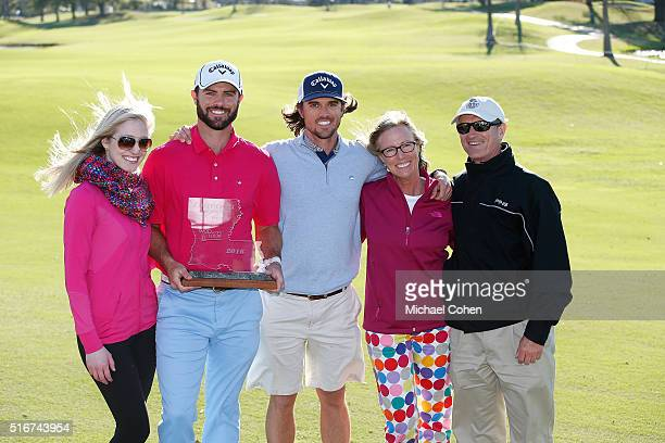 Wesley Bryan and his family pose with the trophy after the final round of the Chitimacha Louisiana Open presented by NACHER held at Le Triomphe Golf...