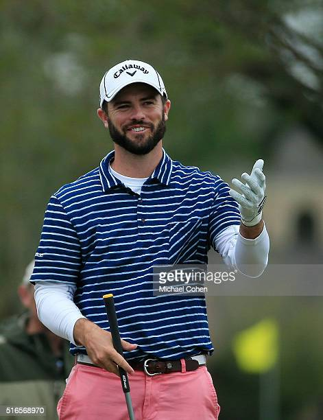 Wesley Bryan has a laugh on the fourth hole during the third round of the Chitimacha Louisiana Open presented by NACHER held at Le Triomphe Golf and...