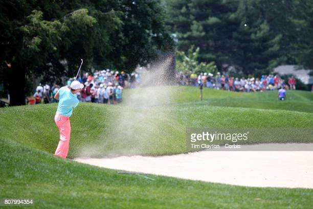 Wesley Bryan in action during day two of the Travelers Championship Tournament at the TPC River Highlands Golf Course on June 23rd 2017 in Cromwell...
