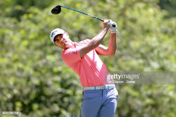 Wesley Bryan in action during the third round of the Travelers Championship Tournament at the TPC River Highlands Golf Course on June 24th 2017 in...