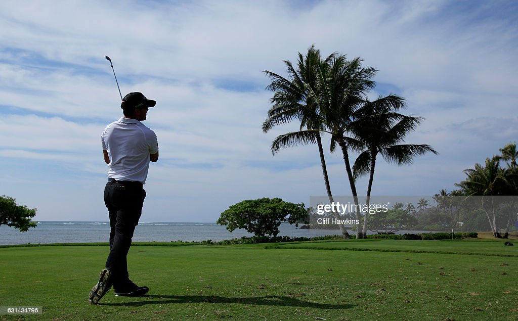 Wesley Bryan of the United States plays a shot during practice rounds prior to the Sony Open In Hawaii at Waialae Country Club on January 10, 2017 in Honolulu, Hawaii.