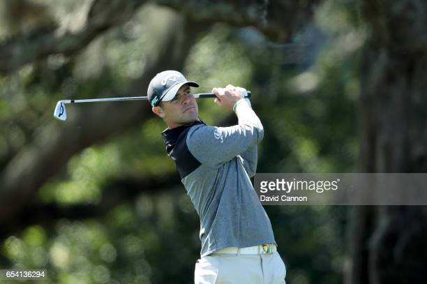 Wesley Bryan of the United States plays his second shot on the par 4 first hole during the first round of the 2017 Arnold Palmer Invitational...