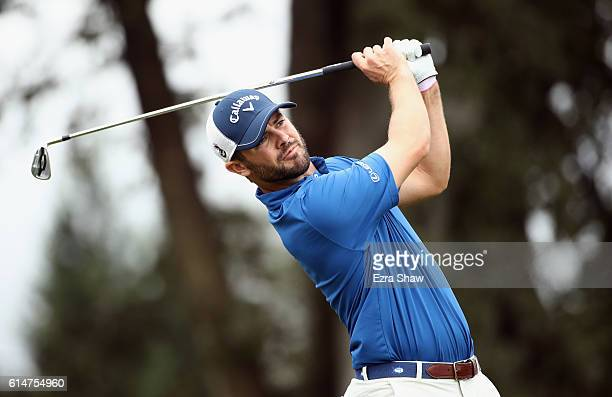 Wesley Bryan tees off on the second hole during the second round of the Safeway Open at the North Course of the Silverado Resort and Spa on October...
