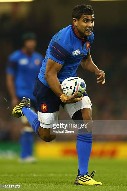 Wesley Fofana of France during the 2015 Rugby World Cup Pool D match between France and Ireland at Millennium Stadium on October 11 2015 in Cardiff...