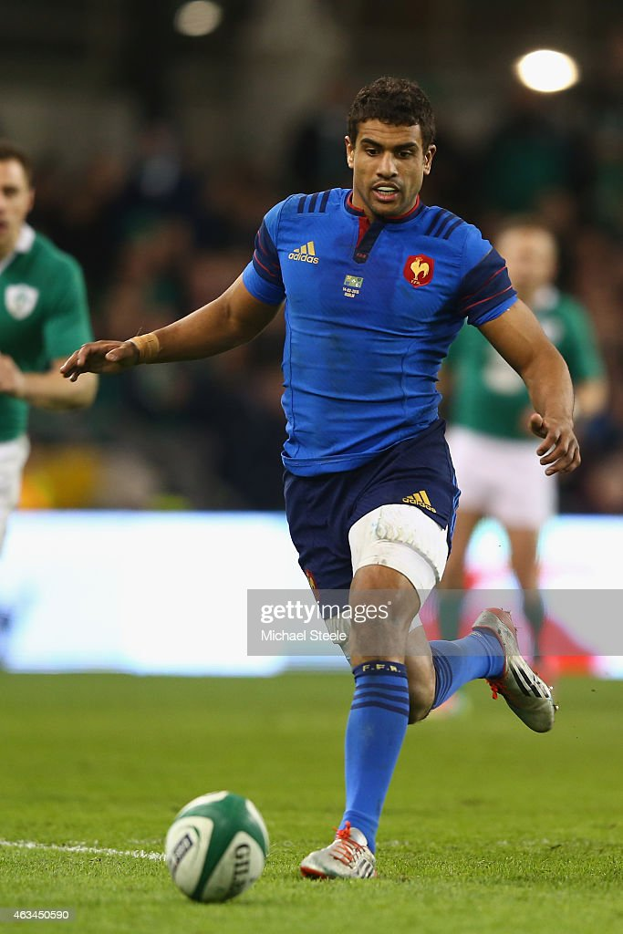 Wesley Fofana of France during the RBS Six Nations match between Ireland and France at the Aviva Stadium on February 14, 2015 in Dublin, Ireland.