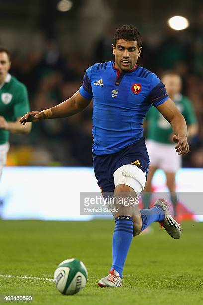 Wesley Fofana of France during the RBS Six Nations match between Ireland and France at the Aviva Stadium on February 14 2015 in Dublin Ireland