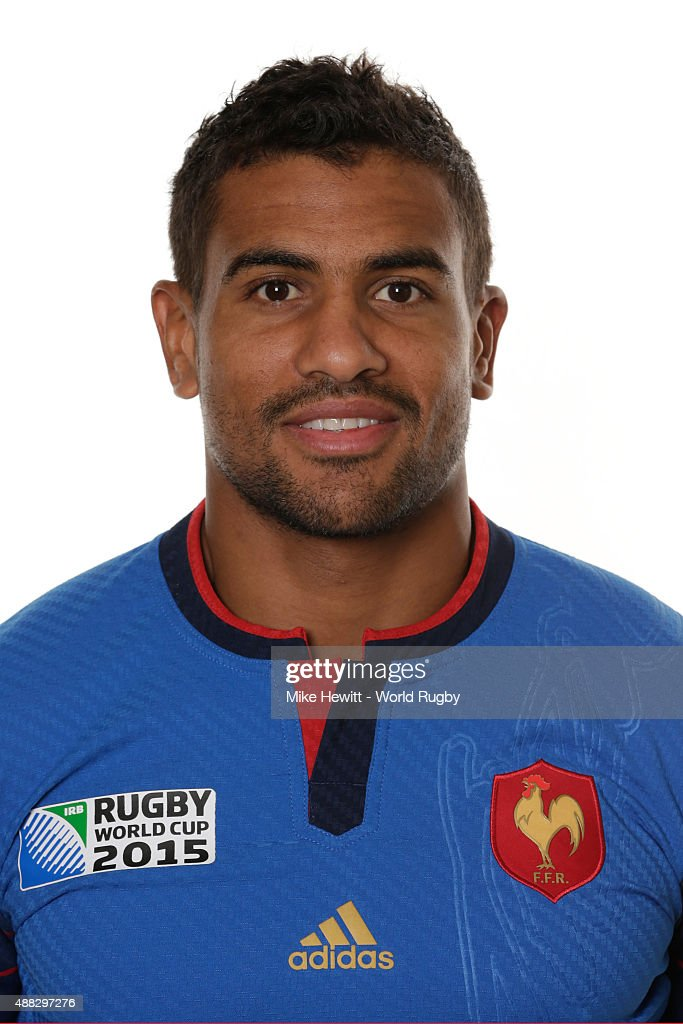 Wesley Fofana of France poses during the France Rugby World Cup 2015 squad photo call at the Selsdon Park Hotel on September 15, 2015 in Croydon, England.