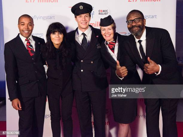 Wesley Goode Claudia Winkleman James Van der Hoorn Jane Lloyd Mostyn and Lenny Henry attend a British Airways event celebrating the airline raising...