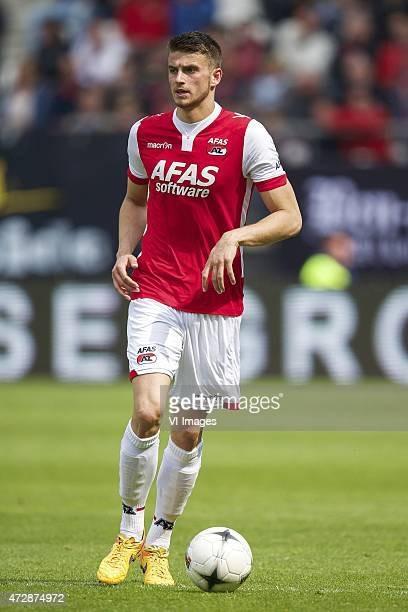 Wesley Hoedt of AZ during the Dutch Eredivisie match between AZ Alkmaar and NAC Breda at AFAS stadium on May 10 2015 in Alkmaar The Netherlands