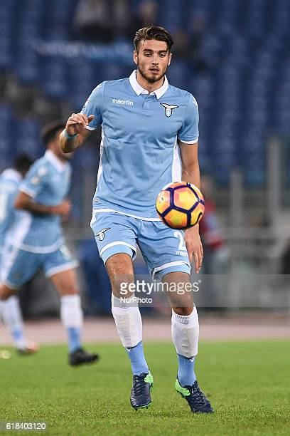 Wesley Hoedt of Lazio during the Serie A match between Lazio v Cagliari on October 26 2016 in Rome Italy
