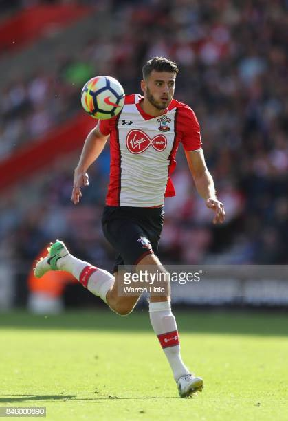 Wesley Hoedt of Southampton in action during the Premier League match between Southampton and Watford at St Mary's Stadium on September 9 2017 in...