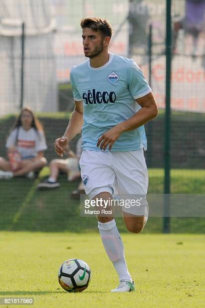 Wesley Hoedt of SS Lazio during the preseason friendly match between SS Lazio and SPAL on July 22 2017 in Pieve di Cadore Italy