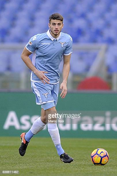 Wesley Hoedt of SS Lazio in action during the Serie A match between SS Lazio and FC Crotone at Stadio Olimpico on January 8 2017 in Rome Italy