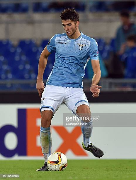 Wesley Hoedt of SS Lazio in action during the UEFA Europa League match between SS Lazio and AS SaintEtienne at Olimpico Stadium on October 1 2015 in...