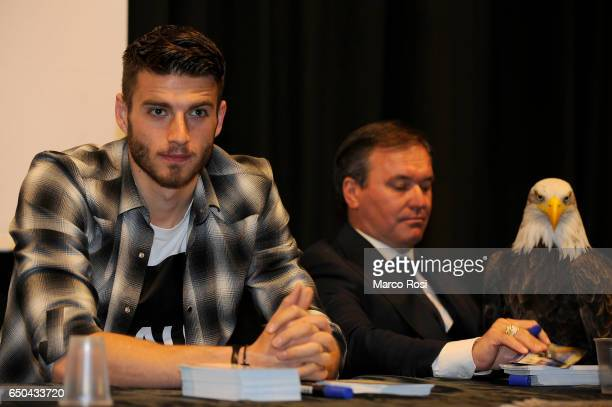 Wesley Hoedt of SS Lazio meets school students with his teammates on March 9 2017 in Rome Italy