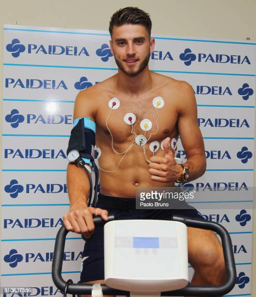 Wesley Hoedt of SS Lazio poses during the SS Lazio medical tests on July 8 2017 in Rome Italy