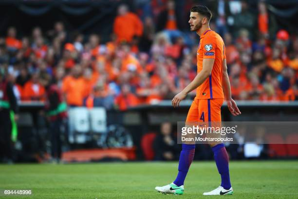 Wesley Hoedt of the Netherlands in action during the FIFA 2018 World Cup Qualifier between the Netherlands and Luxembourg held at De Kuip or Stadion...