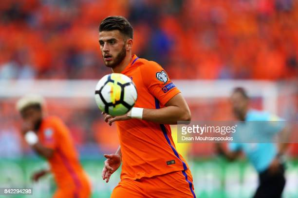 Wesley Hoedt of the Netherlands in action during the FIFA 2018 World Cup Qualifier between the Netherlands and Bulgaria held at The Amsterdam ArenA...