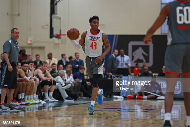 Wesley Iwundu dribbles the ball up court during the NBA Draft Combine at the Quest Multisport Center on May 11 2017 in Chicago Illinois NOTE TO USER...