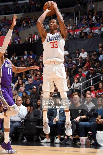 Wesley Johnson of the LA Clippers shoots the ball against the Sacramento Kings on October 12 2017 at STAPLES Center in Los Angeles California NOTE TO...