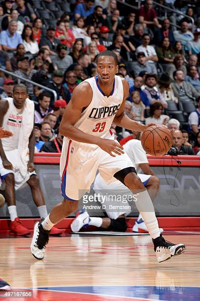 Wesley Johnson of the Los Angeles Clippers drives to the basket during the game on November 14 2015 at STAPLES Center in Los Angeles California NOTE...