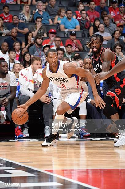 Wesley Johnson of the Los Angeles Clippers handles the ball against the Toronto Raptors on November 22 2015 at STAPLES Center in Los Angeles...