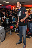 Wesley Johnson of the Los Angeles Clippers participates in the 16th annual Charity BasketBowl Challenge at Keystone Lanes on February 27 2016 in...