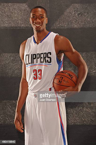 Wesley Johnson of the Los Angeles Clippers poses for a portrait during media day at the Los Angeles Clippers Training Center on September 25 2015 in...