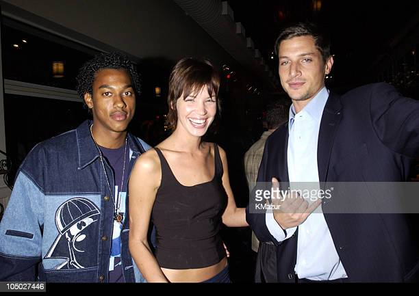 Wesley Jonathan Ashley Scott and Simon Rex during The WB Television Network Upfront Allstar Party at The Lighthouse at Chelsea Piers in New York City...