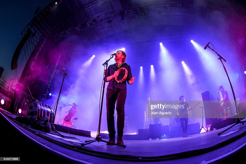 Wesley Keith Schultz of The Lumineers performs on stage at Jardines del Botanico in Madrid on June 27, 2016 in Madrid, Spain.
