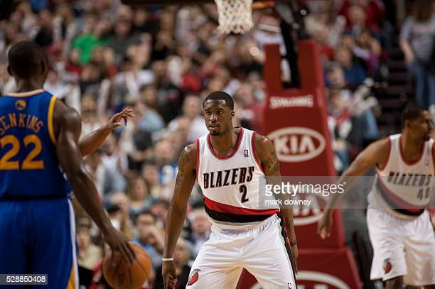 Wesley Matthews a Portland Trail Blazer at a game versus the Golden State Warriors The Trail Blazers won 90 to 87