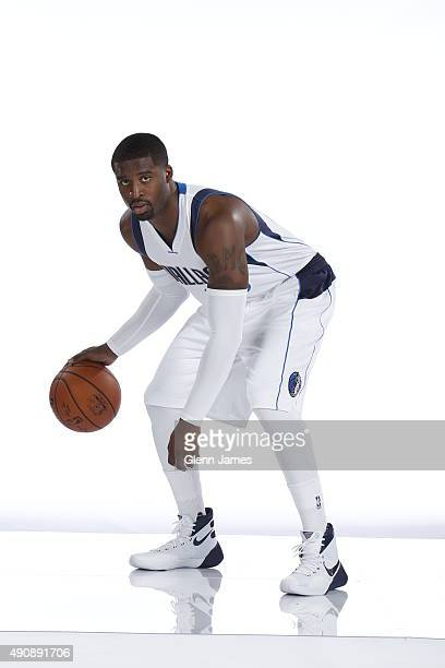 Wesley Matthews of the Dallas Mavericks poses for a photo during media day on September 28 2015 at the American Airlines Center in Dallas Texas NOTE...