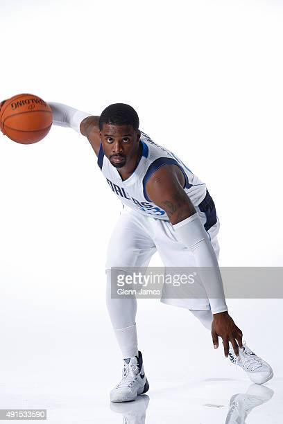Wesley Matthews of the Dallas Mavericks poses for a photo during Media Day on October 5 2015 at the American Airlines Center in Dallas Texas NOTE TO...