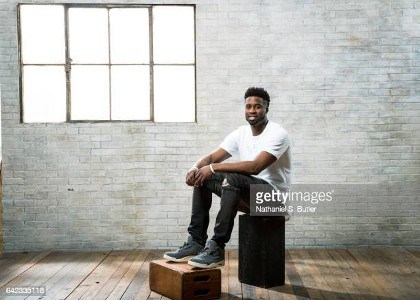 Wesley Matthews of the Dallas Mavericks poses for a photo during the 2017 AllStar Media Circuit at the Ritz Carlton in New Orleans Louisiana NOTE TO...