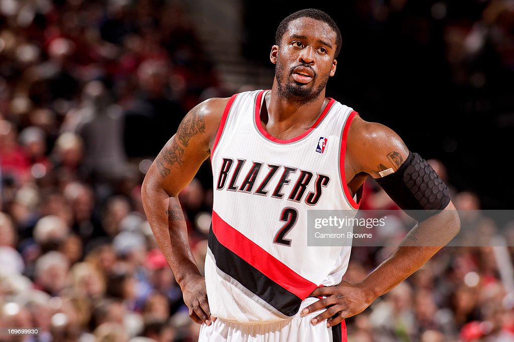 Wesley Matthews #2 of the Portland Trail Blazers looks on while playing against the Milwaukee Bucks on January 19, 2013 at the Rose Garden Arena in Portland, Oregon.
