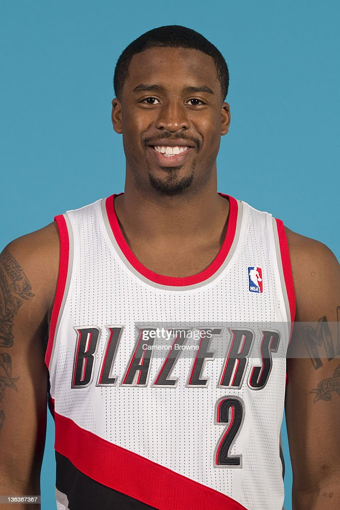 <a gi-track='captionPersonalityLinkClicked' href=/galleries/search?phrase=Wesley+Matthews&family=editorial&specificpeople=804816 ng-click='$event.stopPropagation()'>Wesley Matthews</a> #2 of the Portland Trail Blazers poses for a portrait during Media Day on December 16, 2011 at the Rose Garden Arena in Portland, Oregon.