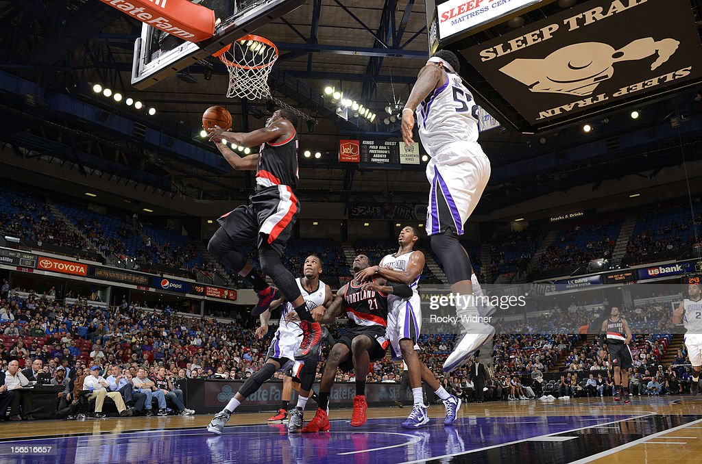 <a gi-track='captionPersonalityLinkClicked' href=/galleries/search?phrase=Wesley+Matthews&family=editorial&specificpeople=804816 ng-click='$event.stopPropagation()'>Wesley Matthews</a> #2 of the Portland Trail Blazers puts up a shot against the Sacramento Kings on November 13, 2012 at Sleep Train Arena in Sacramento, California.