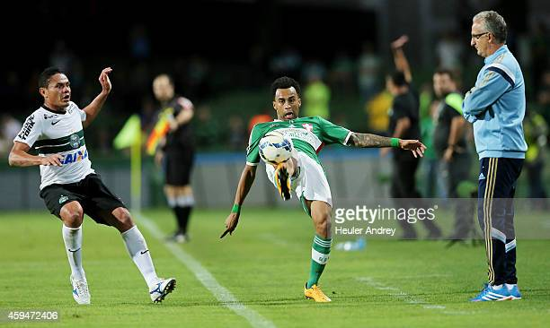 Wesley of Palmeiras during the match between Coritiba and Palmeiras for the Brazilian Series A 2014 at Couto Pereira stadium on November 23 2014 in...