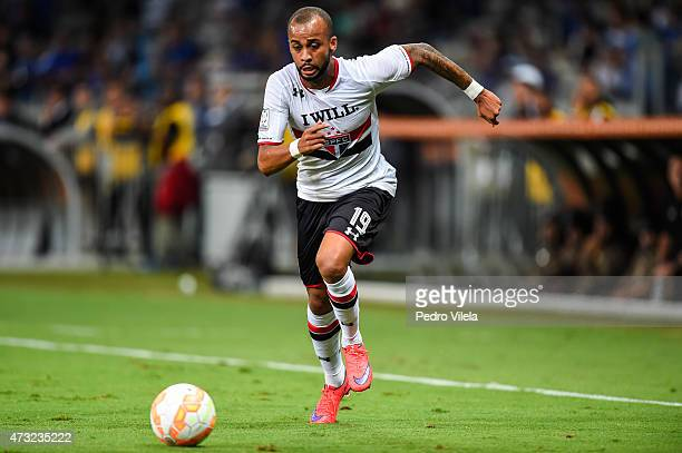 Wesley of Sao Paulo in a match between Cruzeiro and Sao Paulo as part of Copa Bridgestone Libertadores 2015 at Mineirao stadium on May 13 2015 in...