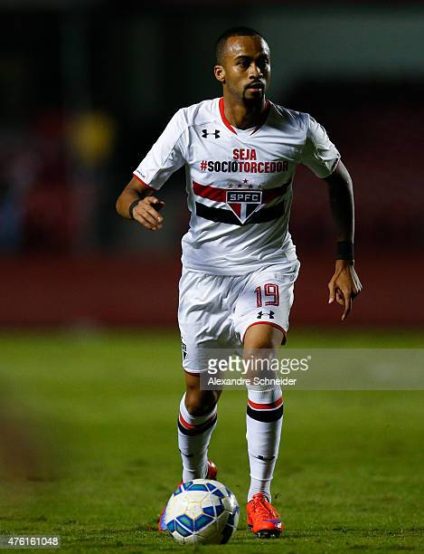 Wesley of Sao Paulo in action during the match between Sao Paulo and Gremio for the Brazilian Series A 2015 at Morumbi stadium on June 06 2015 in Sao...