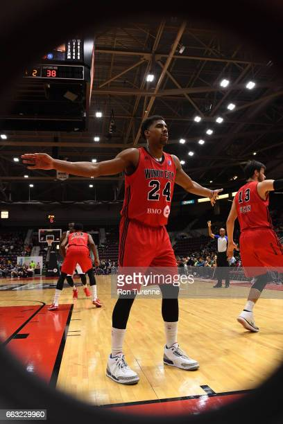 Wesley Saunders of the Windy City Bulls defends an inbounds pass against the Raptors 905 on March 30 2017 in Mississauga Ontario Canada NOTE TO USER...