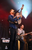 Wesley Schultz and Ben Wahamaki of The Lumineers perform on day 2 of Festival Beauregard at Chateau de Beauregard on July 6 2013 in...