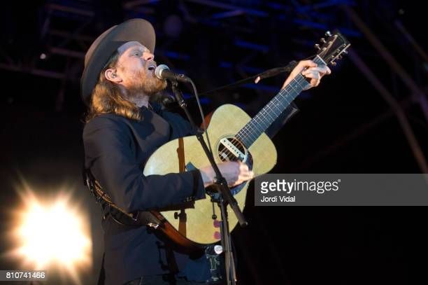 Wesley Schultz of Lumineers performs on stage during Festival Cruilla Day 1 at Parc del Forum on July 7 2017 in Barcelona Spain