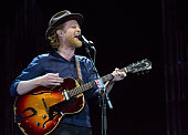 Wesley Schultz of The Lumineers performs at Festival D'ete De Quebec on July 7 2016 in Quebec City Canada
