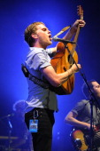 Wesley Schultz of The Lumineers performs at the Sunset Cove Ampitheatre on October 20 2013 in Boca Raton Florida
