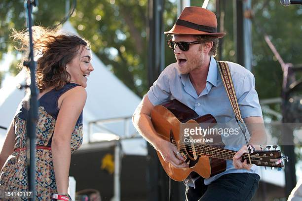 Wesley Schultz of The Lumineers performs during the 2012 Austin City Limits Music Festival on October 14 2012 in Austin Texas