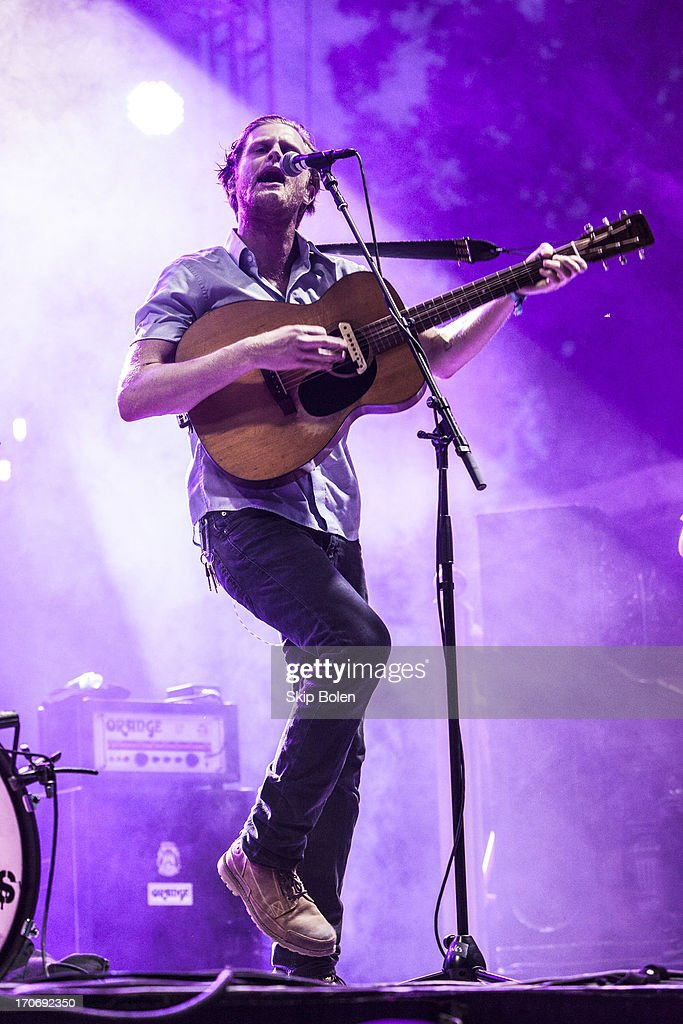 Wesley Schultz of The Lumineers performs during the 2013 Bonnaroo Music & Arts Festival on June 15, 2013 in Manchester, Tennessee.