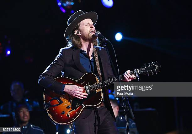Wesley Schultz of The Lumineers performs during the 94th Annual National Christmas Tree Lighting Ceremony on the Ellipse in President's Park on...