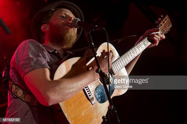 Wesley Schultz of The Lumineers performs live at La Riviera room on July 9 2014 in Madrid Spain