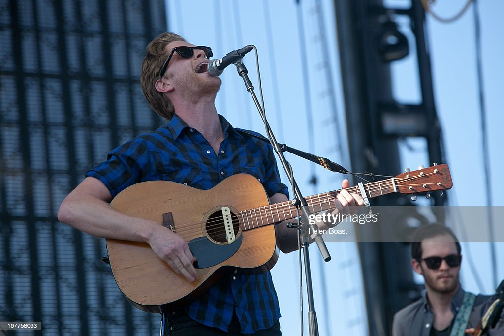 Wesley Schultz of The Lumineers performs on stage at 2013 Coachella Music Festival on April 21, 2013 in Indio, California.